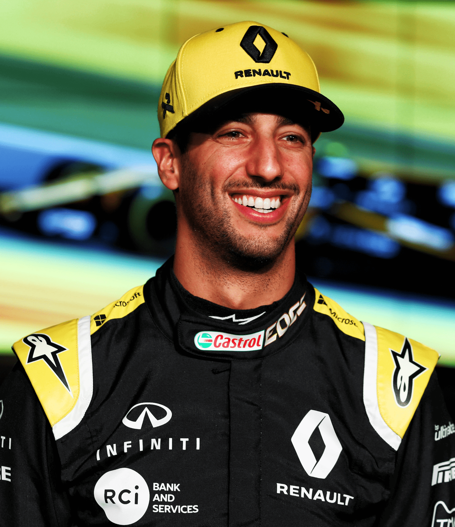 daniel ricciardo 2019 official cap yellow rs f1