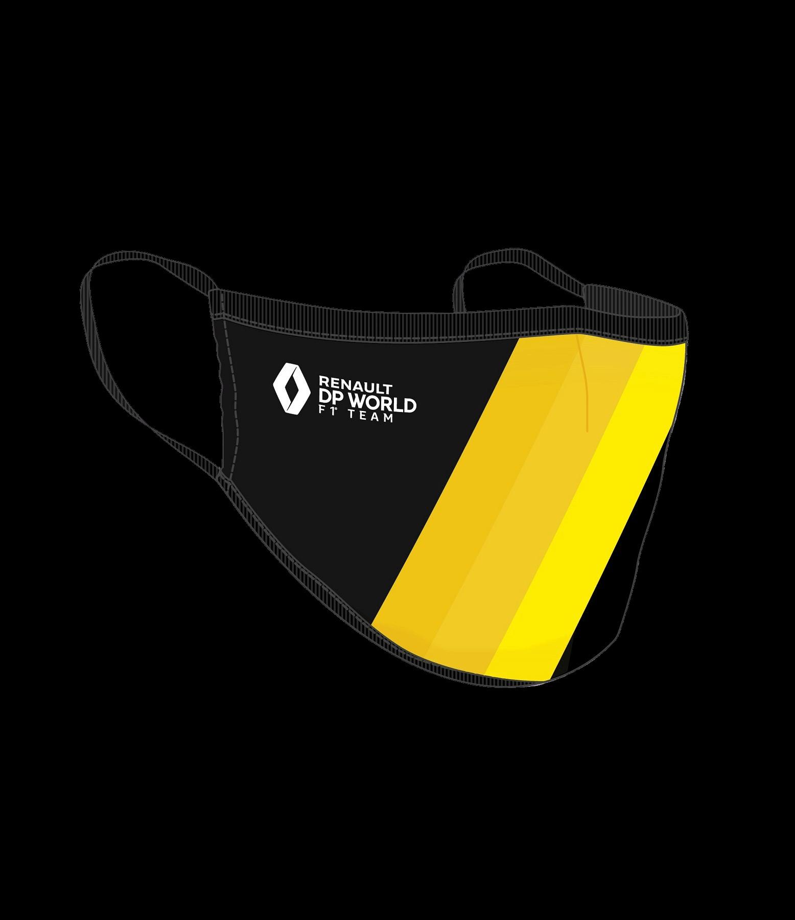 RENAULT DP WORLD F1 TEAM Fabric Mask - black & Yellow
