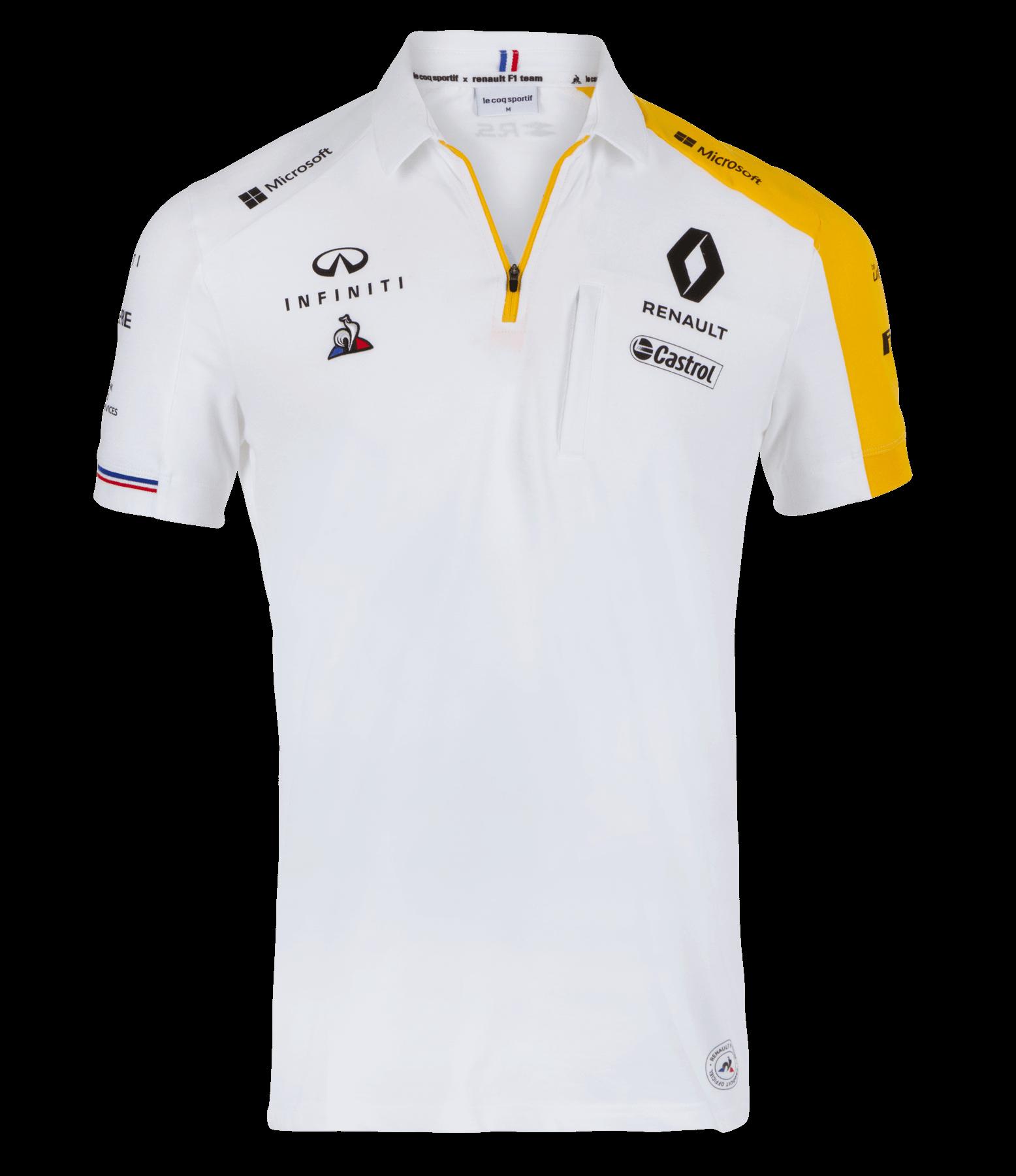 RENAULT F1® TEAM 2019 men's poloshirt - white size S