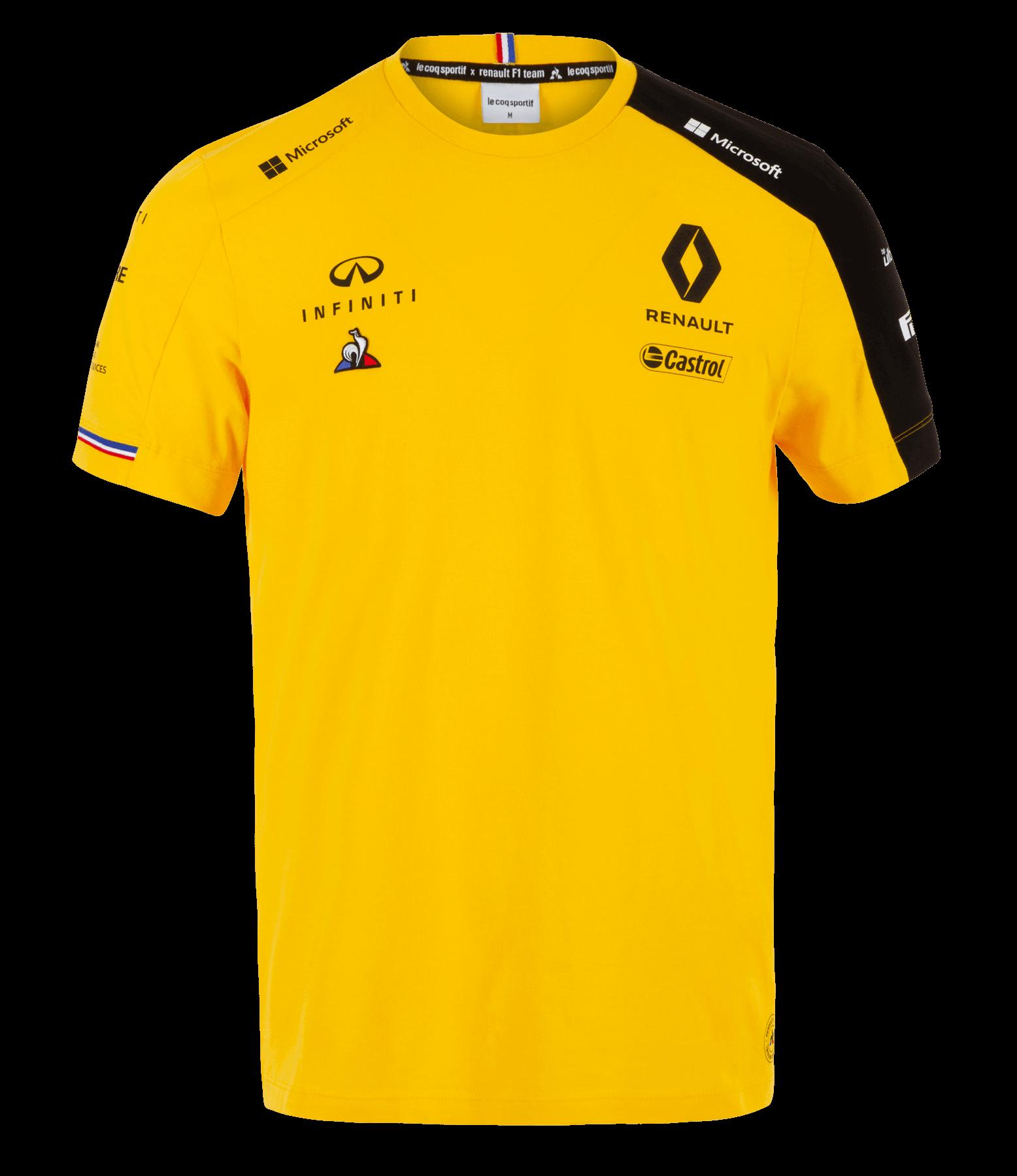 RENAULT F1® TEAM 2019 men's t-shirt - yellow size M