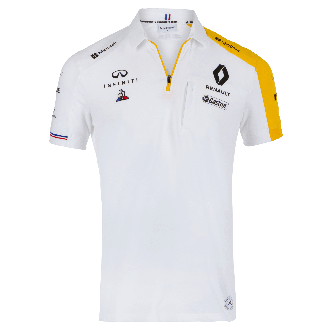 RENAULT F1® TEAM 2019 men's poloshirt - white