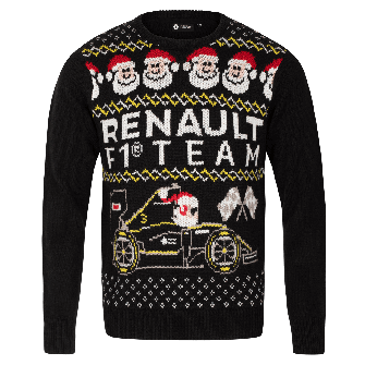 RENAULT F1® TEAM Christmas men's jumper  - Black